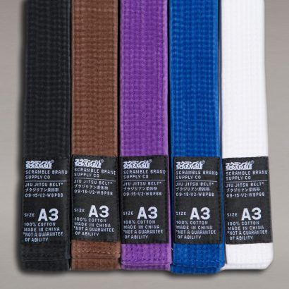 Scramble BJJ Belt V2 - White