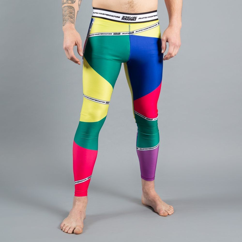 Scramble 'Rainbow Spats v2' Grappling Tights