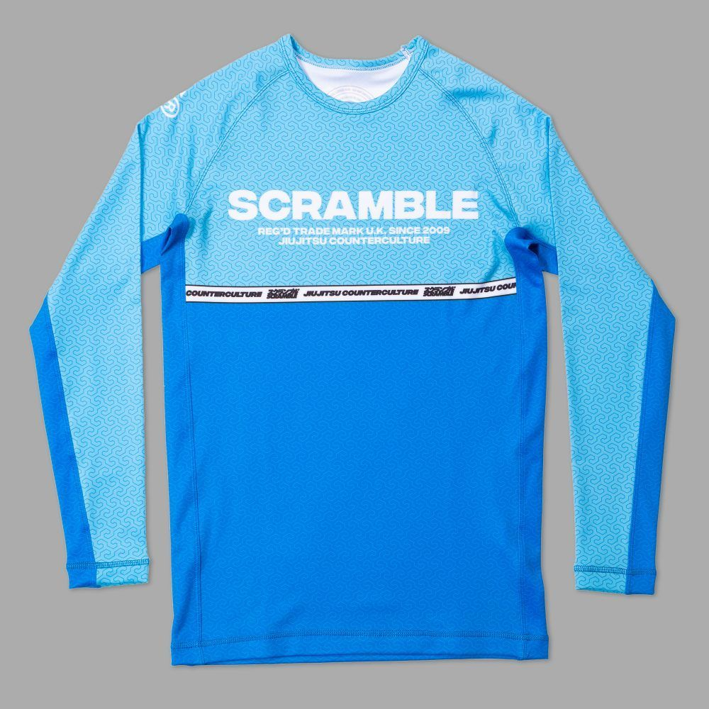 Scramble Ranked Rashguard v4 - Blue