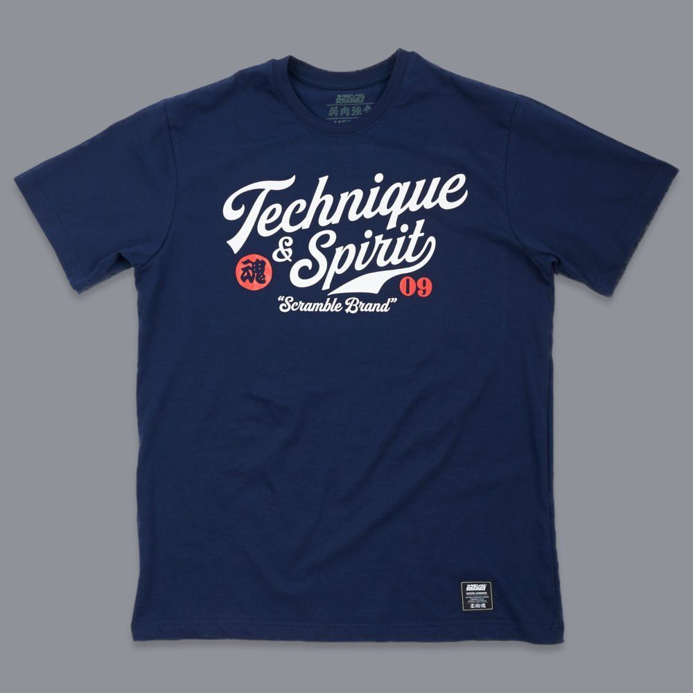 Scramble Technique and Spirit Tee - Navy