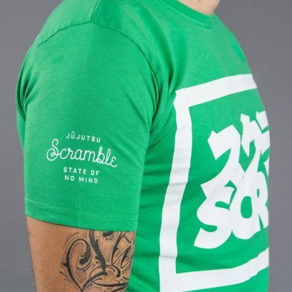 "Scramble ""Split Logo"" Slim Fit T-Shirt - Green"