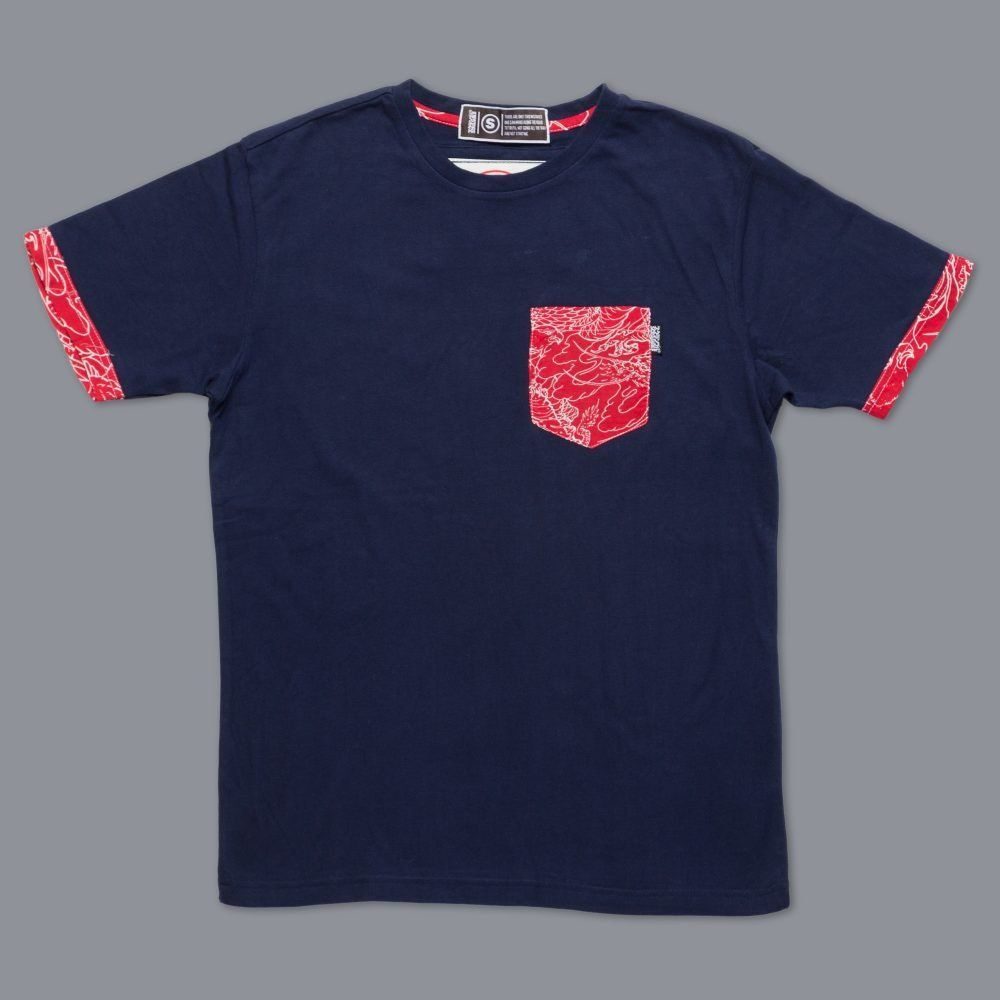 Scramble Irezumi Pocket Tee - Navy