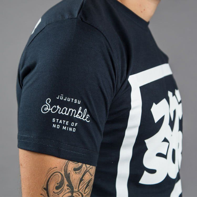 "Scramble ""Split Logo"" Slim Fit T-Shirt - Navy Blue"