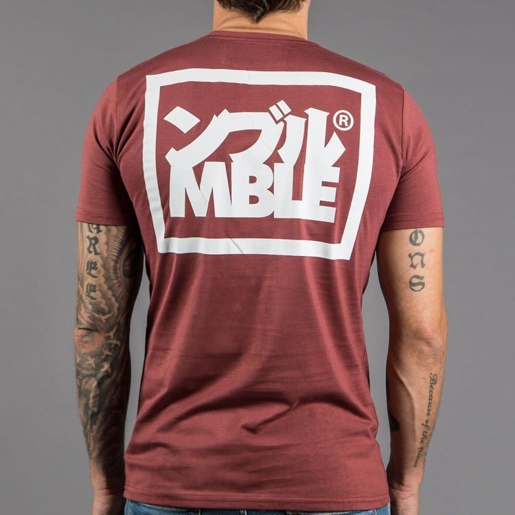 "Scramble ""Split Logo"" Slim Fit T-Shirt - Red"