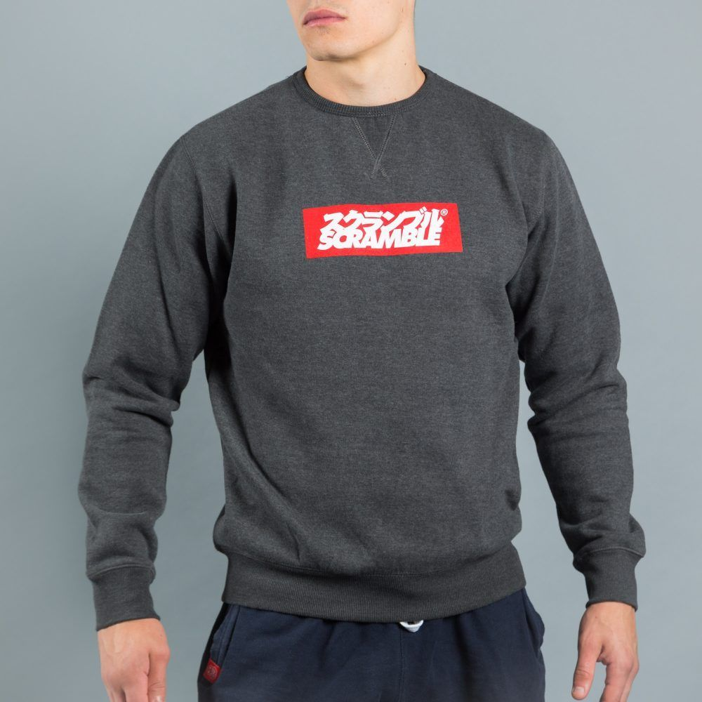 Scramble Box Logo Crew Neck - Black
