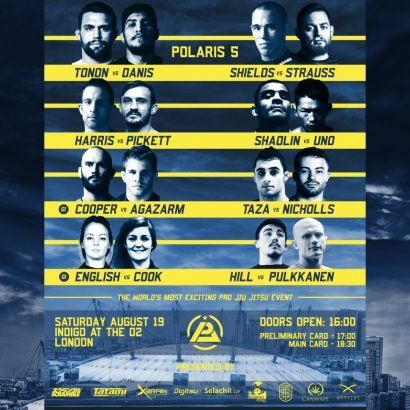 Polaris 5! Supported by Scramble. Dillon Danis vs Garry Tonon plus loads of amazing fights…