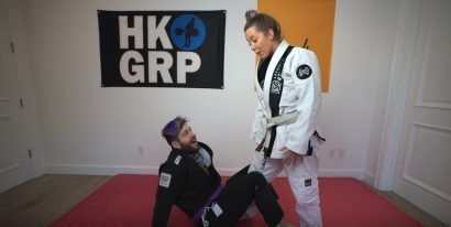 Julien Solomita gets his purple belt, beats up Jenna Marbles in video!!!!1