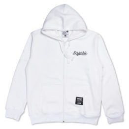 Technique and Spirit Zip Hoodie - White