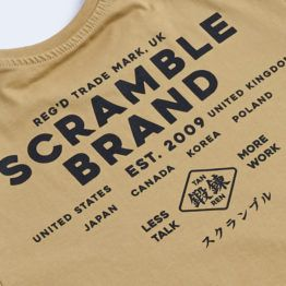 Scramble Less Talk Tee - Sand