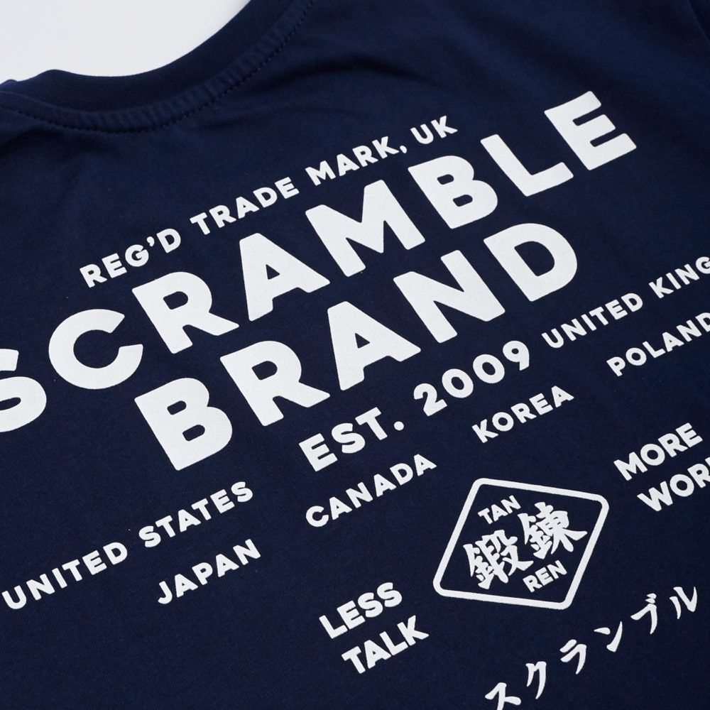 Scramble Less Talk Tee - Navy