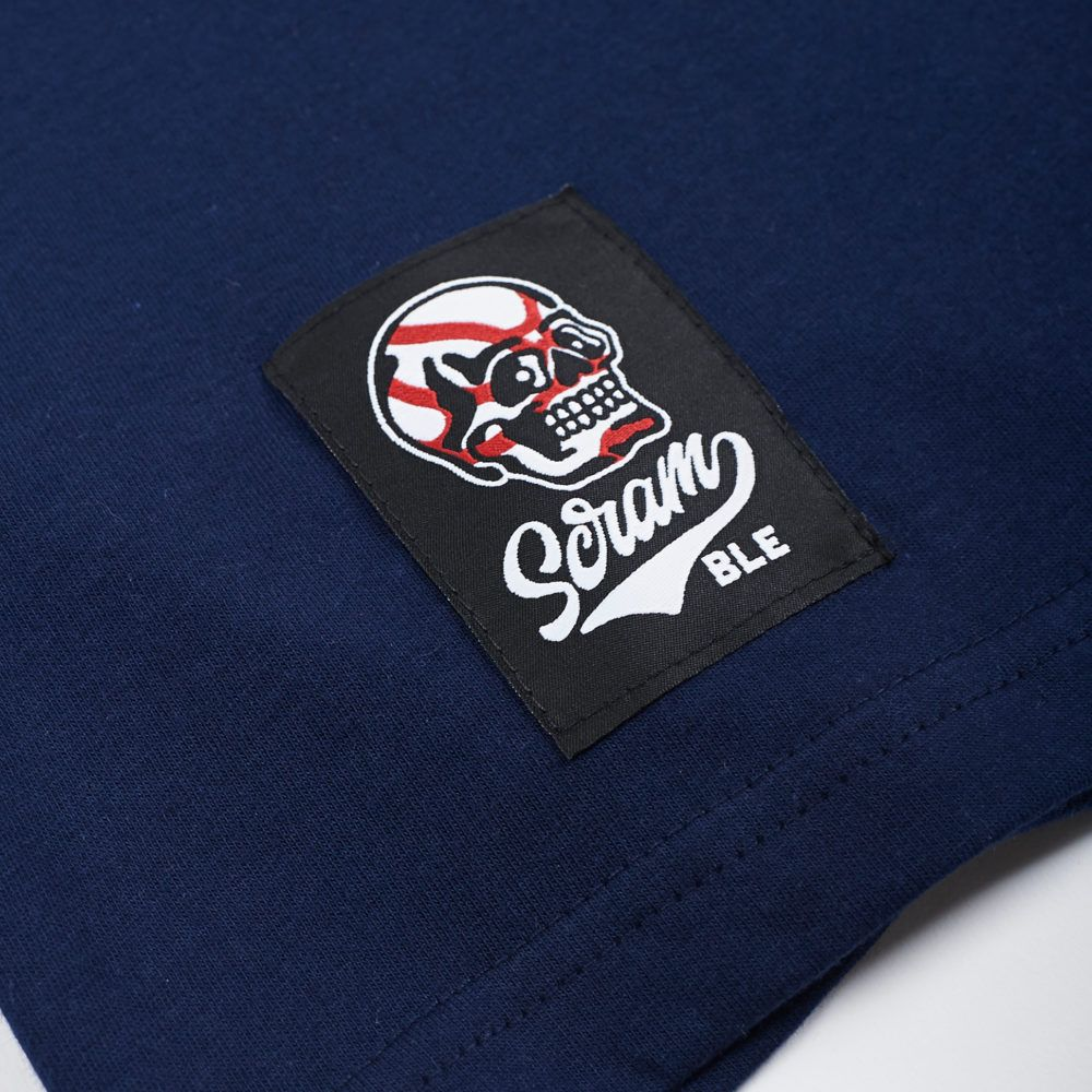 Scramble Skabuki Long Sleeved Tee - Navy